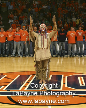 Chief Illiniwek at Assembly Hall