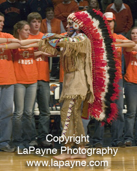 Chief Illiniwek Performing
