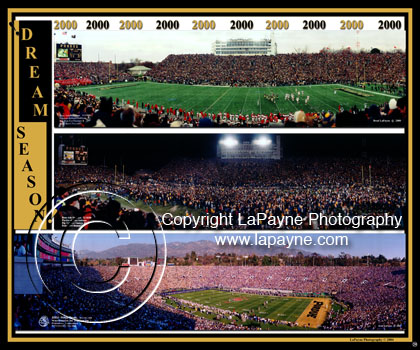 Purdue Football Triple Panoramic Composite 2000