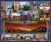 University of Illinois Campus Composite with Paint The Hall Orange