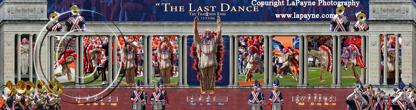 Chief Illiniwek Last Dance Panorama