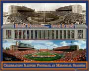 Memorial Stadium Then & Now