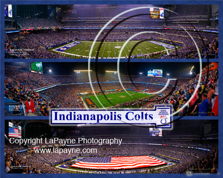 Indianapolis Colts Triple composite with U.S. Flag