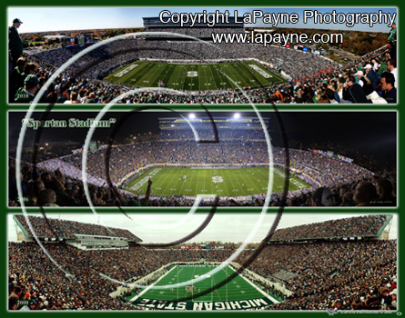 Michigan State Football Triple Composite