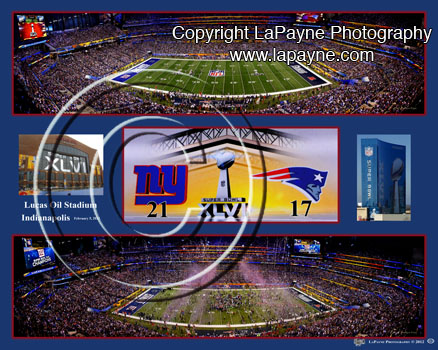 Super Bowl 46 -XLVI- 2012 - Double Composite