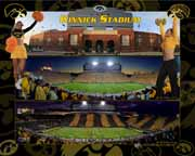 Kinnick Triple with Cheerleaders - #124