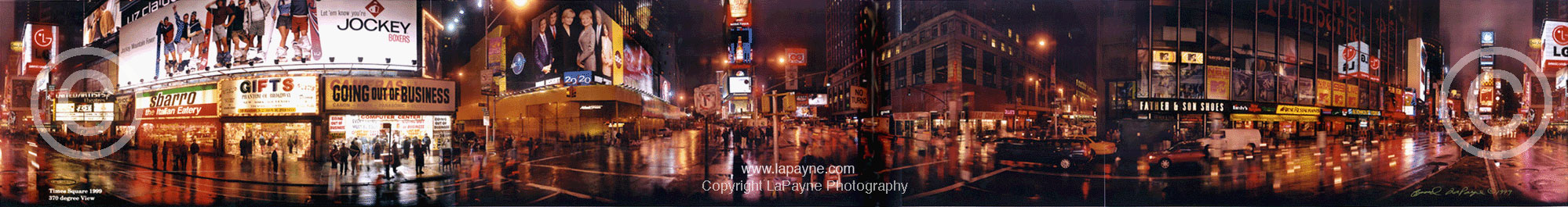 Times Square 370 degree Panorama 1999