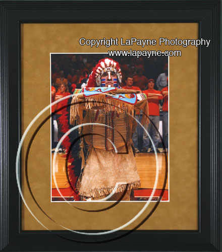 Chief Illiniwek | 3/4 view framed