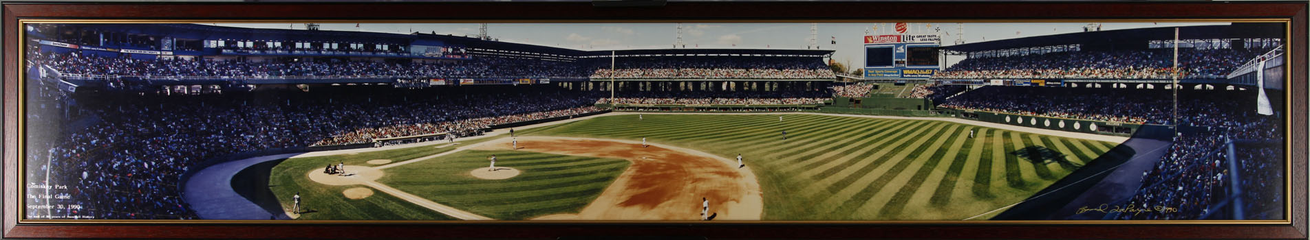 Comiskey Park Panoramic - final game - Framed