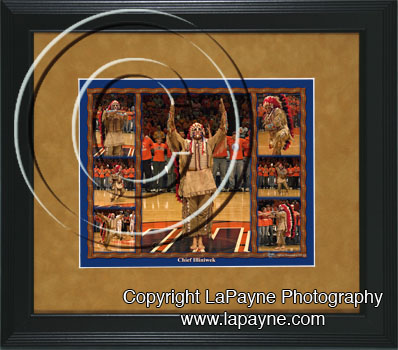 Chief Illiniwek Composite Framed Print