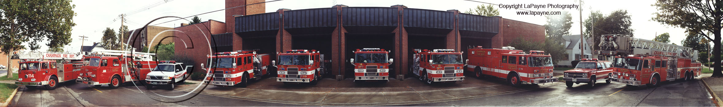 Champaign Fire Dept. at Station