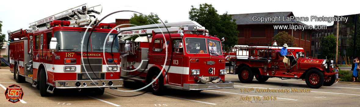 Champaign Fire Department | 3 engines at 150th Celebration