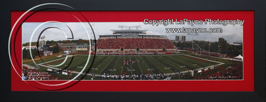 Illinois State Red Mat Black Frame