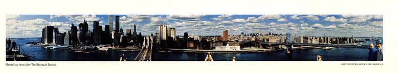 New York Skyline From The Brooklyn Bridge Poster