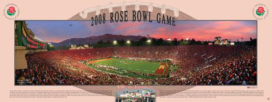 Rose Poster Rose Bowl 2008 Evening Poster
