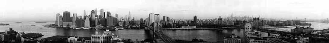 New York Skyline 2001 Sunrise - B&W