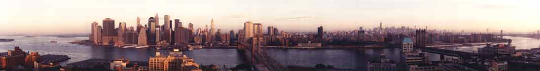 New York Skyline 2001 Sunrise - Color