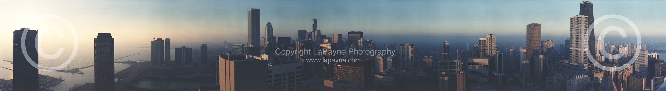 Chicago Skyline Sunrise 1991