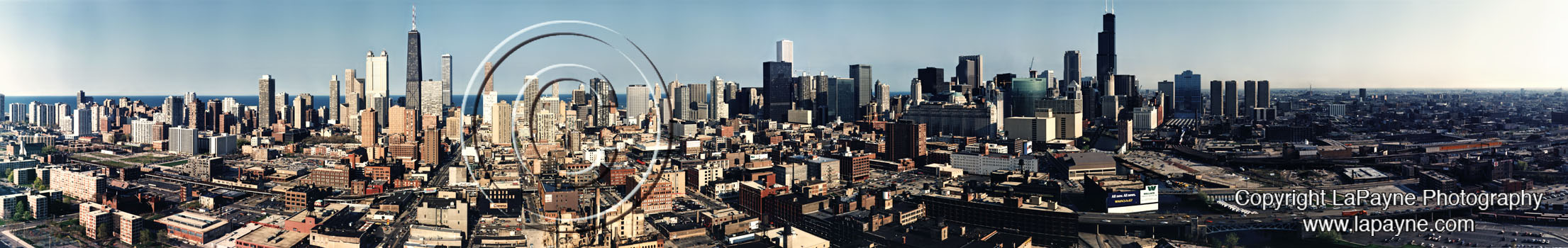Chicago Skyline Panorama 1989