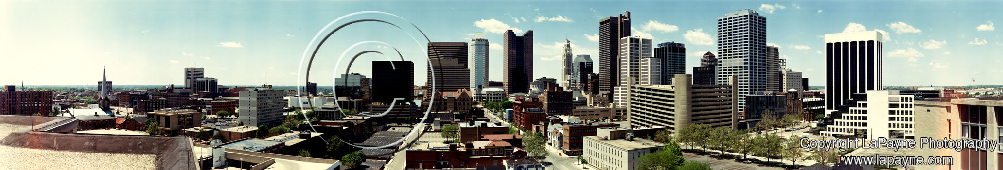 Columbus Ohio Skyline 1994
