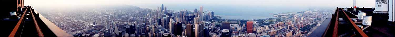 From the roof of the Sears Tower