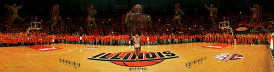 Chief Illiniwek 2005 Panoramic