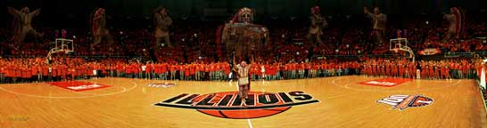 Chief Illiniwek 2005 Panoramic photo