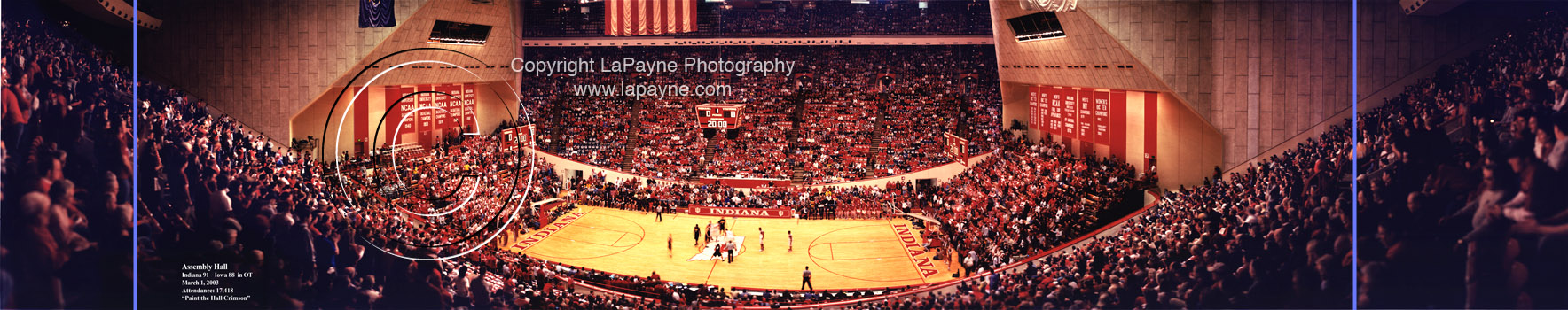 Assembly Hall, Paint the Hall Crimson, Indiana Basketball 2003