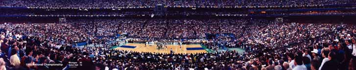 NCAA National Championship Basketball Game Panorama 1989