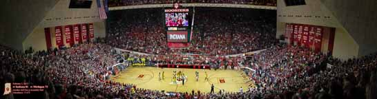IU Assembly Hall, Indiana vs. Michigan 2013 Center Court
