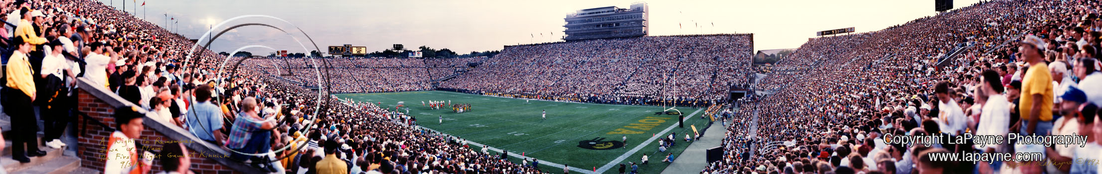 Kinnick Stadium 1992 - First night game panorama