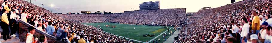 Kinnick Stadium, First night game panorama