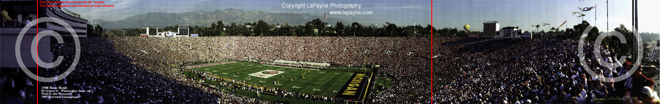 Rose Bowl 1998 - Kick Off Panorama