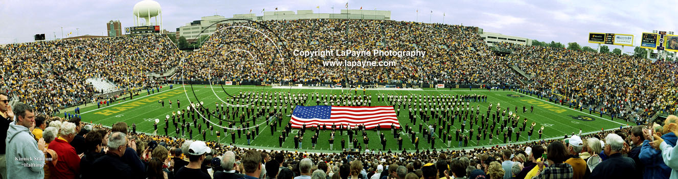 Kinnick Stadium 2001 at Halftime