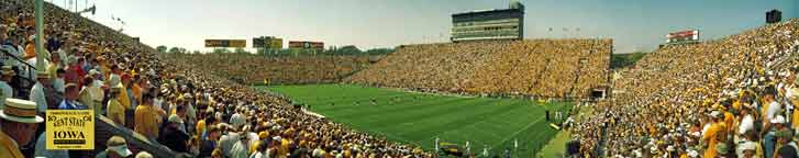 Iowa Throwback Game 2004 Kickoff Panorama