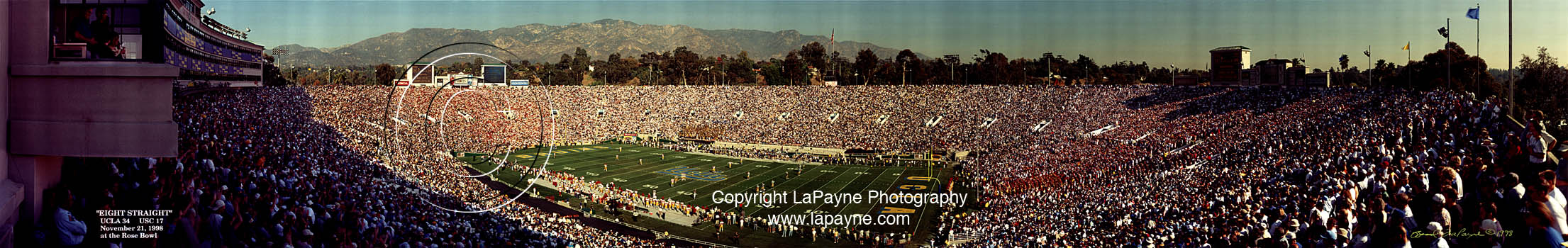 UCLA vs. USC Eight Straight 1998, Rose Bowl Panorama