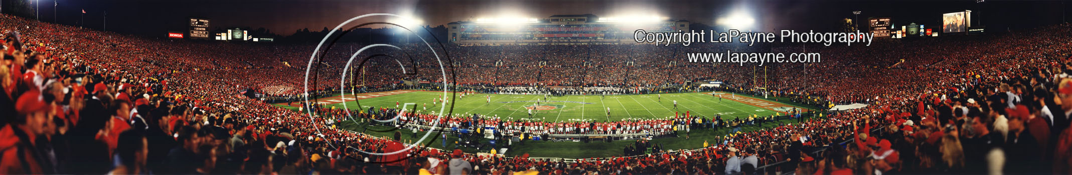 Rose Bowl 2002 - Kickoff Panorama