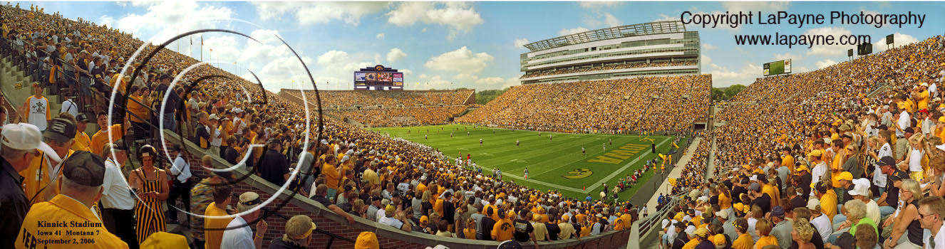 Kinnick Stadium Panorama,Iowa vs. Montana