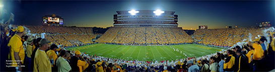 "Iowa, Kinnick, ""Gold Bowl One Panorama"" 36"" long"
