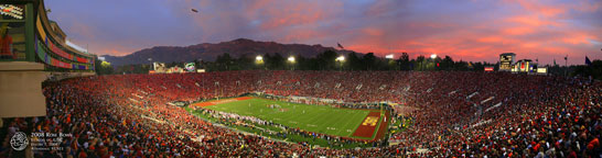 2008 Rose Bowl Sunset