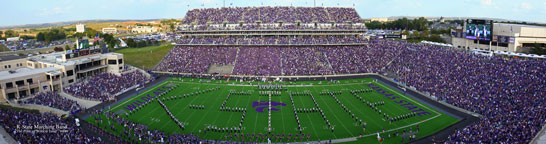K State Band at Bill Snyder Family Stadium Panorama