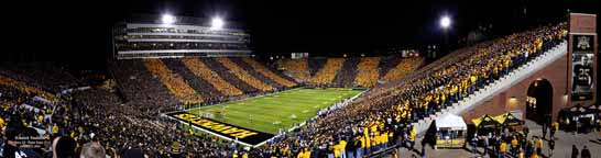 Kinnick Black & Gold Game Panorama