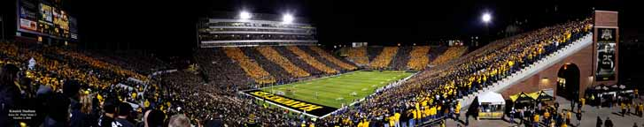 Kinnick Stadium Black & Gold Game - Corner Panorama