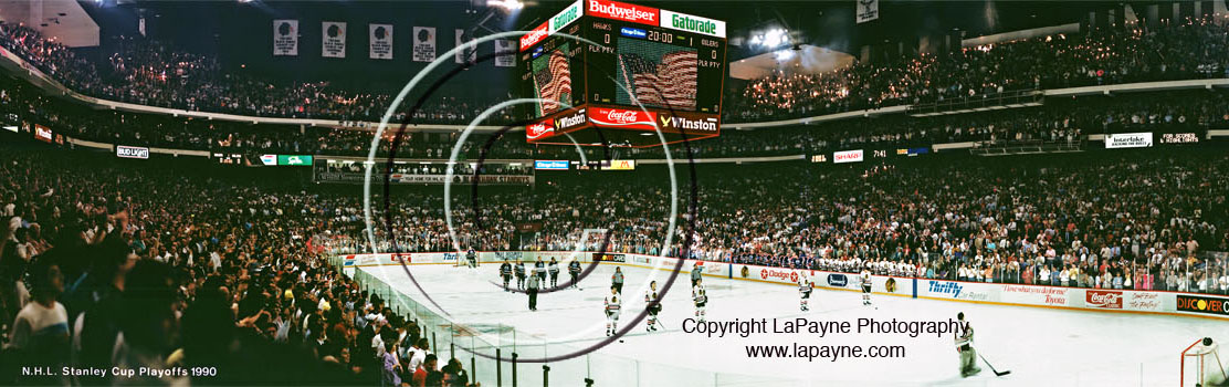 Blackhawks Stanley Cup Playoffs 1990 Panorama