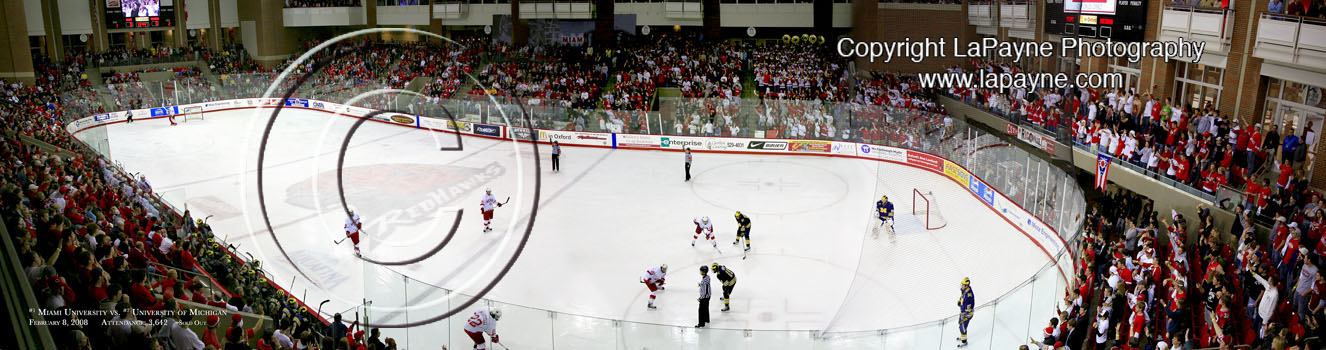 Miami of Ohio RedHawks Ice Hockey - Face-off