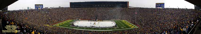 The Big Chill at Michigan Stadium - Center Ice 56 inch panorama