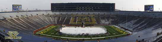 Michigan Stadium Hockey panorama