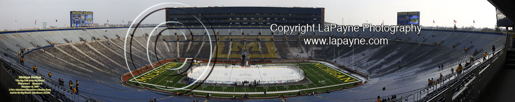 Hockey at Michigan Stadium - Empty Stadium 48 inch