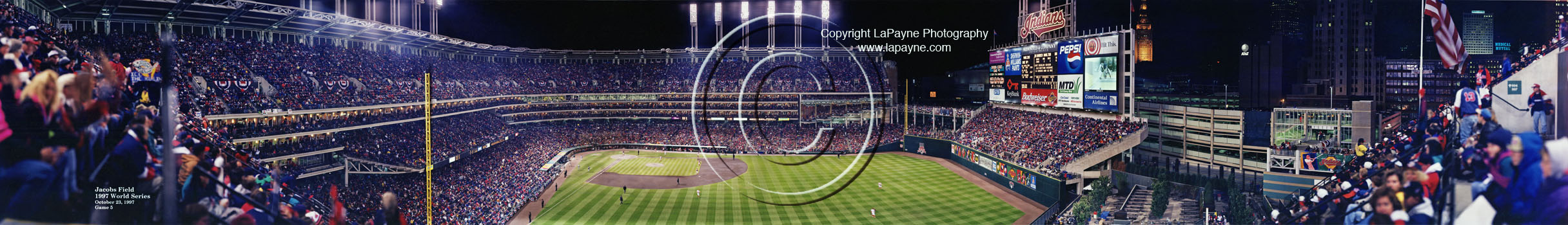 Jacobs Field World Series Panorama 1997 | Game