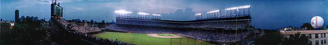 Wrigley Field, Chicago First Night Game, 8/8/88
